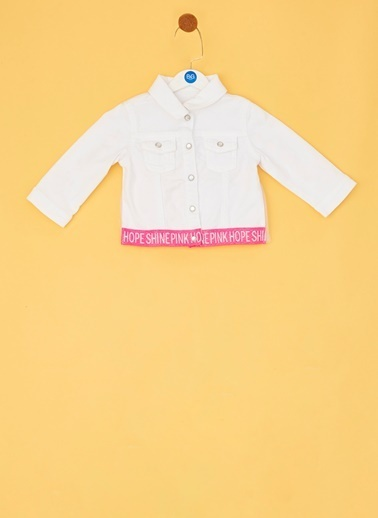 BG Baby BG Baby Beyaz Kız Bebek Ceket Beyaz